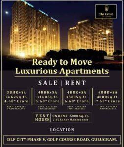Dlf crest 4bhk apartment Gurgaon
