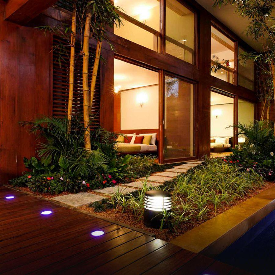 Total Environment - Windmills of Your Mind - Duplex - wooden deck, garden & water body