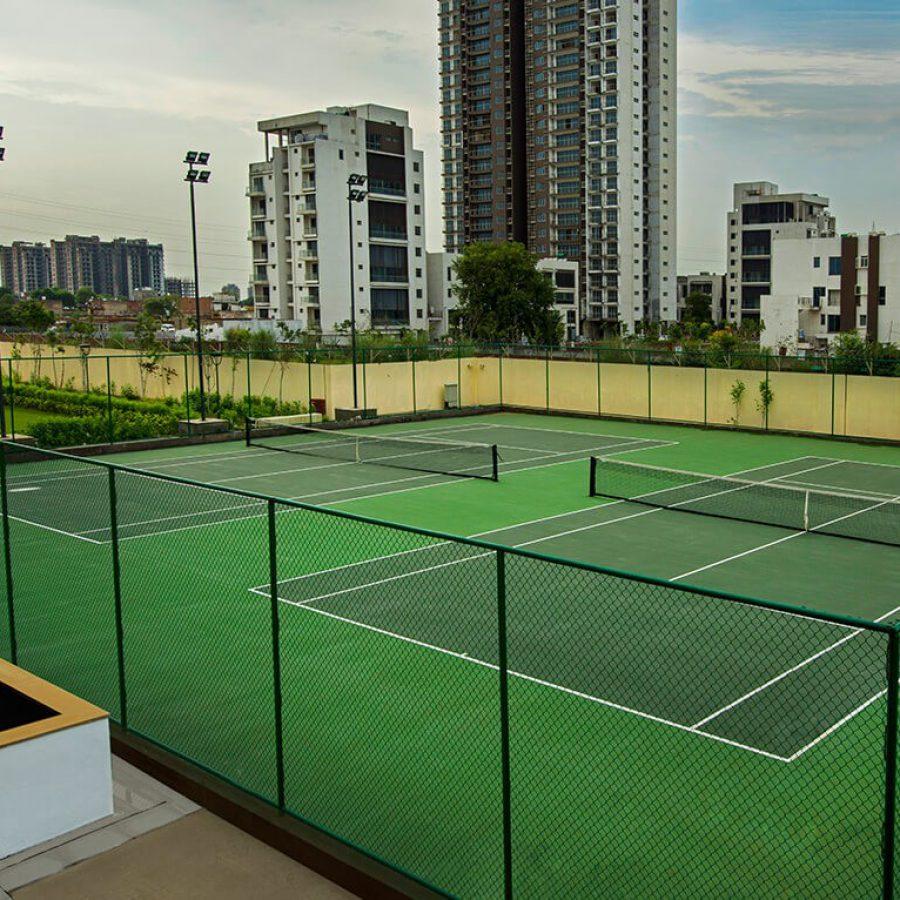 Lush Tennis Courts